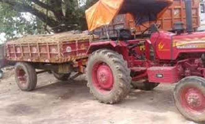बालू लदे नौ वाहन जब्त, तीन गिरफ्तार