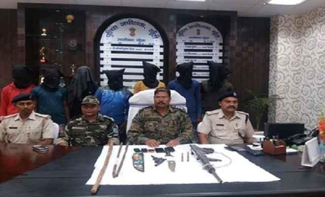हथियार के साथ सात अपराधी गिरफ्तार