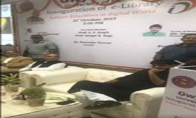 केन्द्रीय मंत्री सत्यपाल ने डीयू में किया ई-पुस्तकालय का उद्घाटन