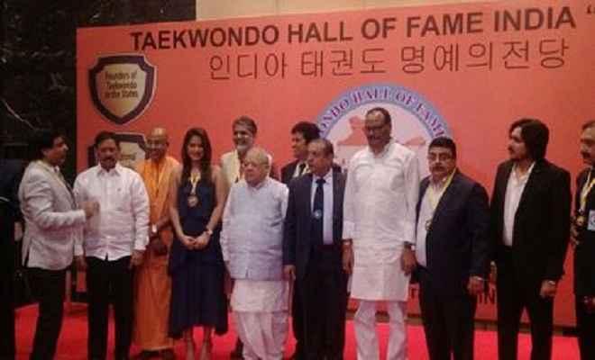 ताइक्वांडो फेडरेशन ने 65 विभूतियों को किया सम्मानित