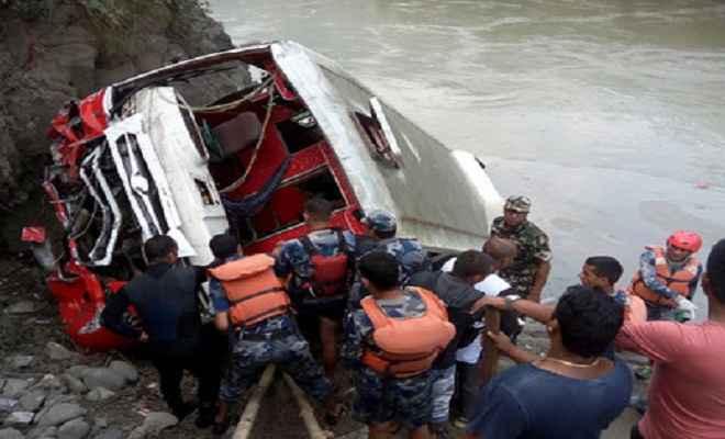 नेपाल : बस नदी में गिरी, 7 मरे, कई घायल