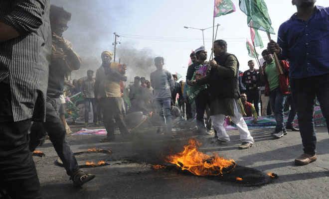 जाप के एनएच व रेल चक्का जाम का दिखा असर, 16 दिसंबर को बिहार बंद