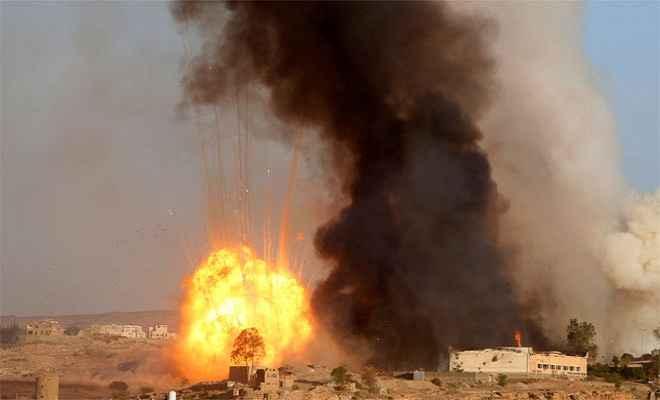 सउदी गठबंधन सेना के हवाई हमले में 20 हूती विद्रोही ढेर