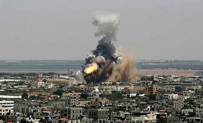 इजरायल ने गाजा पट्टी पर किया हवाई हमला