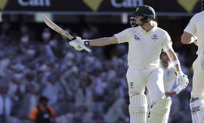 एशेज : स्मिथ का नाबाद दोहरा शतक, ऑस्ट्रेलिया को 146 रन की बढ़त