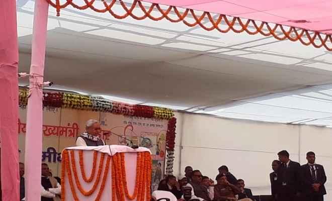 मुख्यमंत्री नीतीश कुमार ने किया 340 करोड़ के विभिन्न योजनाओं का शिलान्यास
