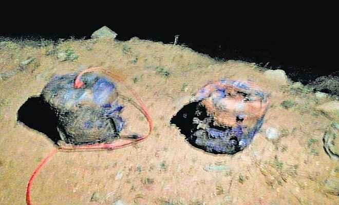 औरंगाबाद में पांच किलों का सिलेंडर बम बरामद, पुलिस चौकस