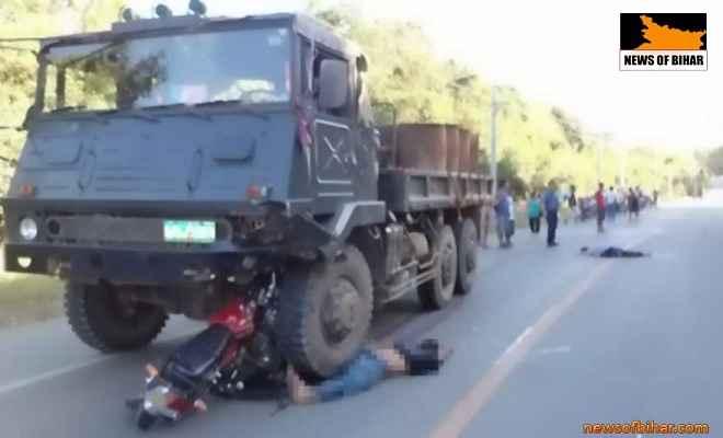 मुजफ्फरपुर में सड़क दुर्घटना में महिला समेत तीन की मौत