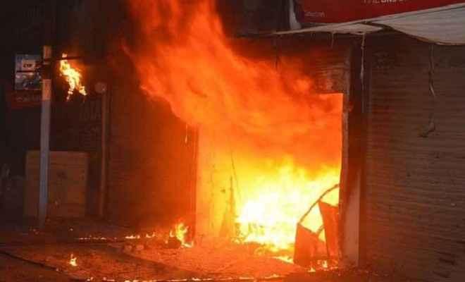फाइनेंस कम्पनी के ऑफिस में लगी आग