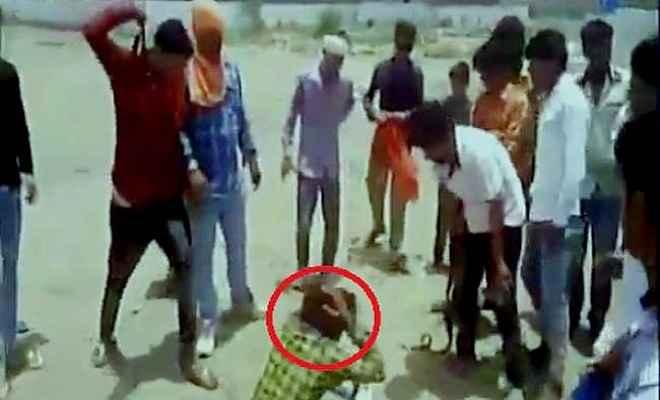 गोलीबारी करने वाले युवक की ग्रामीणों ने की पिटाई