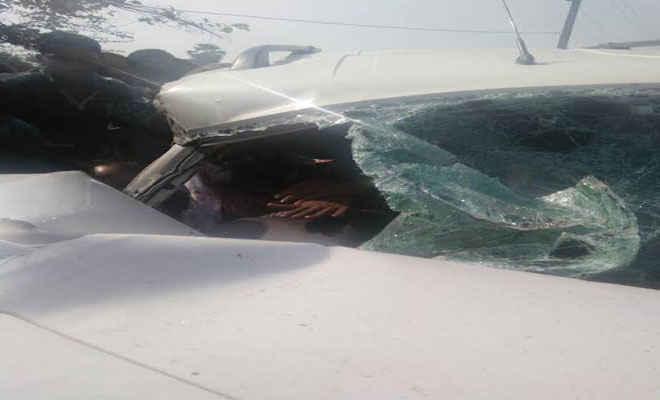 मुजफ्फरपुर में एसएच पर भिड़े वाहन, बेितया के सीजेएम समेत तीन घायल