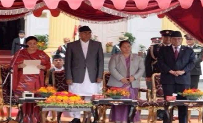 देउबा ने ली नेपाल के 40वें प्रधानमंत्री के रूप में शपथ