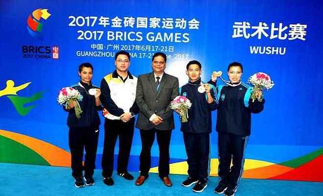 ब्रिक्स खेलों के पहले दिन भारतीय वुशू टीम ने तीन पदक जीते