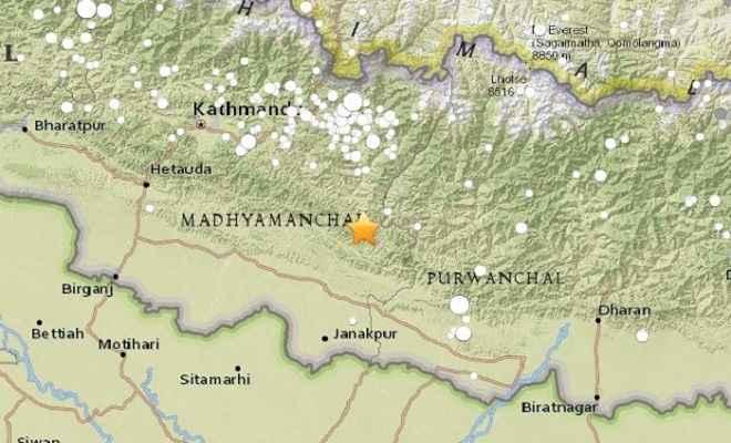 नेपाल में 4.9 की तीव्रता का भूकंप