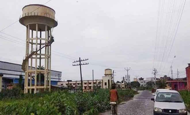 मुजफ्फरपुर में पानी टंकी गिरने की वीडियो खबर अफवाह व झूठी