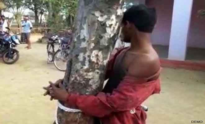 नालंदा में मवेशी खोलते पकड़ाए दो चोर तो खूंटे से बांध उनका यह किया हाल