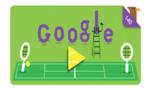 गूगल ने डूडल के जरिये मनाई विंबलडन की 140वीं वर्षगांठ