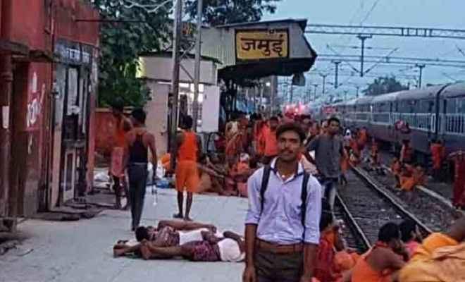 जमुई रेलवे स्टेशन पर नक्सली हमला, रातभर रूट पर रेल परिचालन ठप रहा