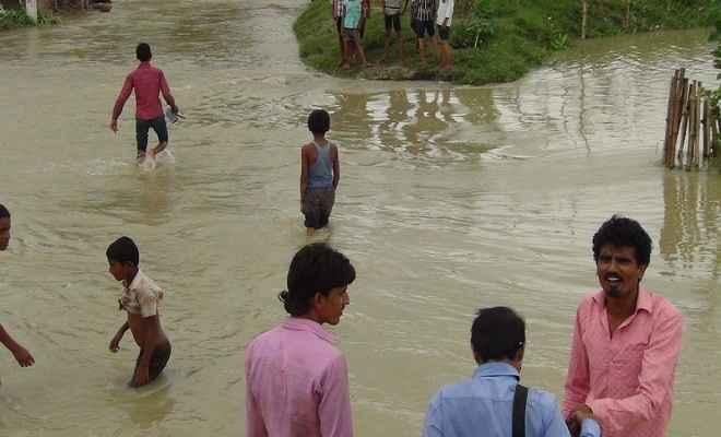 मुजफ्फरपुर में बाढ़ से फसलों की बर्बादी देख किसान बेहाल