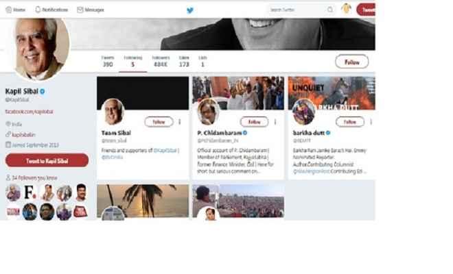 सिब्बल छोड़ सकते हैं कांग्रेस, राहुल को ट्विटर पर किया अनफॉलो