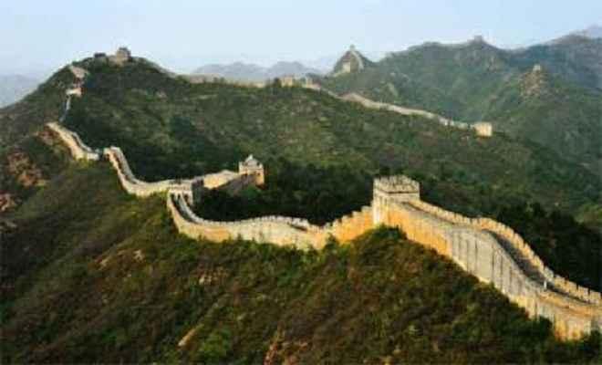 चीन के महान दीवार की निगरानी 300 कैमरे से