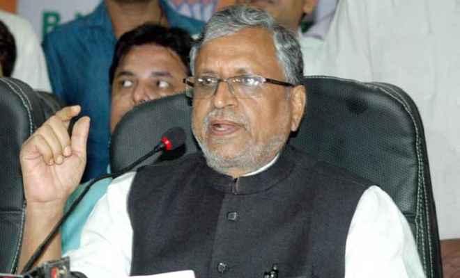 उप मुख्यमंत्री सुशील कुमार मोदी ने किया लालू-राबड़ी से सवाल, कहा-हिम्मत है तो 27 की रैली दें आरोपों का जवाब