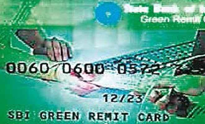 एसबीआइ ब्रांच में ग्रीन रेमिट कार्ड की शुरुआत
