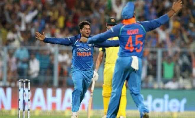 भारत ने ऑस्ट्रेलिया को 50 रनों से हराया, कुलदीप यादव की हैट्रिक