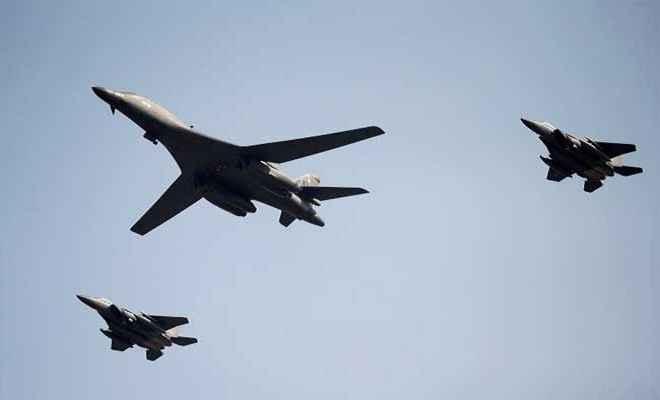 अमेरिका ने उत्तर कोरिया पर फिर उड़ाए बमवर्षक विमान