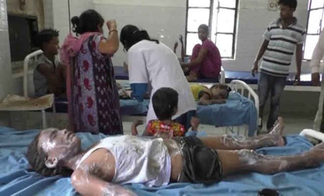 समस्तीपुर में रसोई गैस रिसाव से लगी आग, एक ही परिवार आधा दर्जन झुलसे