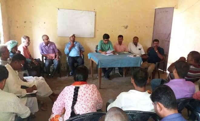 बैठक में ग्राम स्वच्छता अभियान की दी गई जानकारी