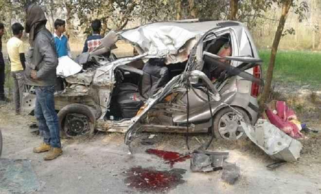 मुजफ्फरपुर में सड़क दुर्घटना में 2 की दर्दनाक मौत