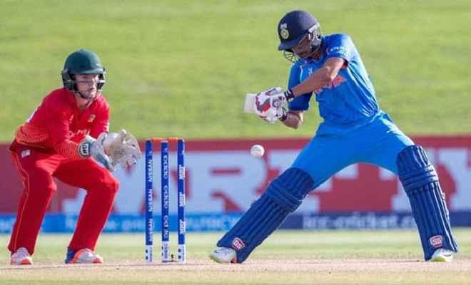 अंडर-19 विश्व कप : भारत ने जिम्बाब्वे को 10 विकेट से हराया