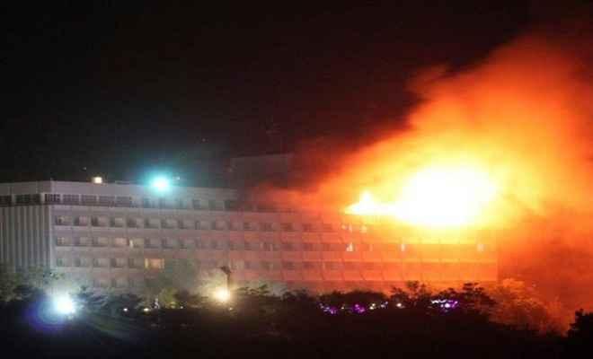 काबुल में इंटरकॉन्टिनेंटल होटल पर आतंकी हमला, 15 लोगों की मौत, 2 आतंकी ढेर