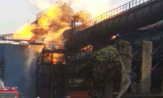Image result for छत्तीसगढ़: भिलाई स्टील प्लांट में गैस पाइपलाइन फटी, 8 की मौत, कई घायल