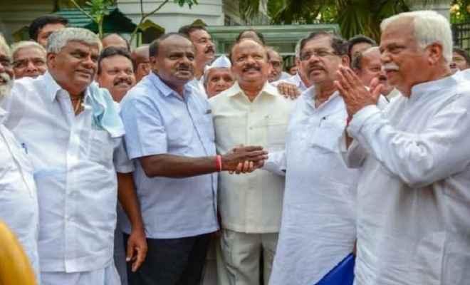 कर्नाटक उपचुनाव: भाजपा को बड़ा झटका, 5 में से 4 सीटों पर गठबंधन का कब्जा