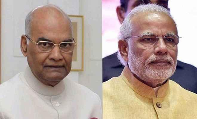 राष्ट्रपति कोविंद, प्रधानमंत्री मोदी ने गुजराती नववर्ष पर लोगों को दी बधाई