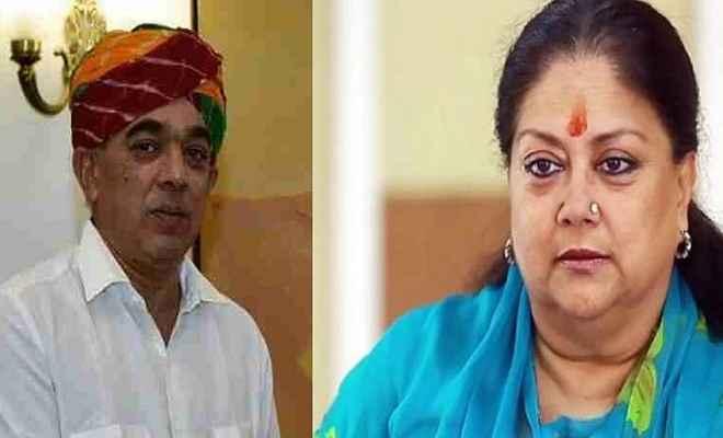 राजस्थान में कांग्रेस का बड़ा दांव, वसुंधरा राजे के खिलाफ लड़ेंगे मानवेन्द्र सिंह