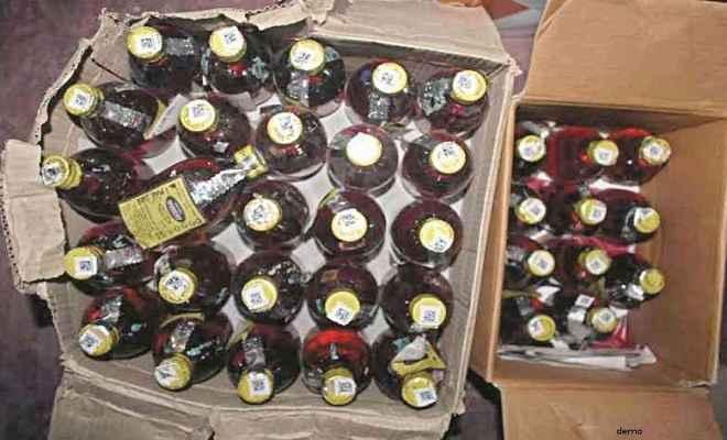 उत्पाद विभाग और जिला प्रशासन की कामयाबी, भारी मात्रा में अवैध अंग्रेजी शराब बरामद