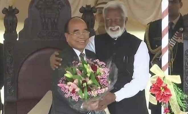 मिजो नेशनल फ्रंट के प्रमुख जोरमथंगा ने ली मिजोरम के मुख्यमंत्री पद की शपथ