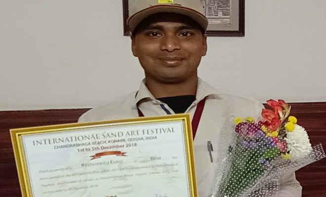 अंतरराष्ट्रीय रेत कला उत्सव में बिहार का परचम, सुदर्शन पटनायक ने की कला की सराहना