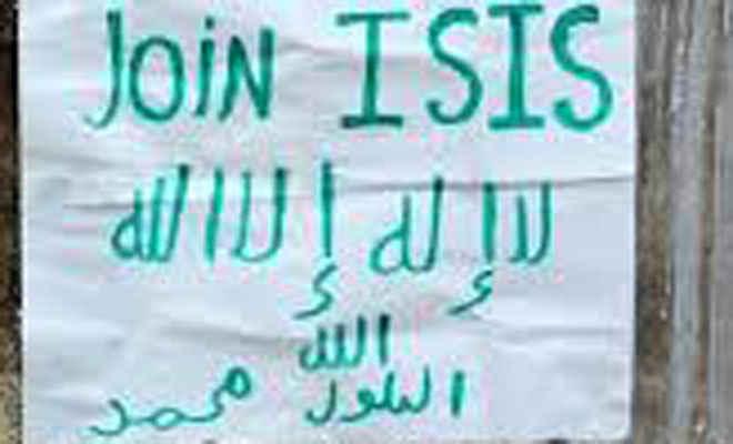 औरंगाबाद में आइएसआइएस का पोस्टर मिला, एलर्ट
