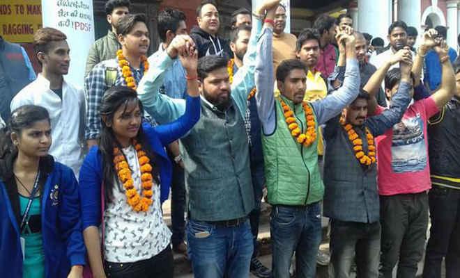 पीयूएसयू चुनाव: जन अधिकार छात्र परिषद ने किया जनसंपर्क अभियान