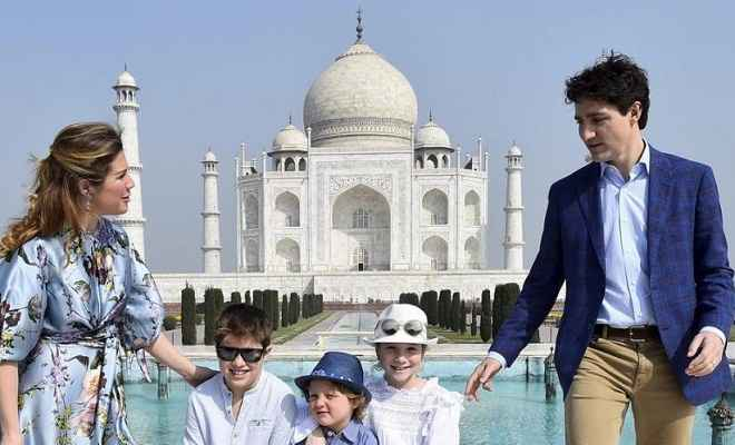 कनाडा के प्रधानमंत्री जस्टिन ट्रूडो ने परिवार सहित किया ताजमहल का दीदार