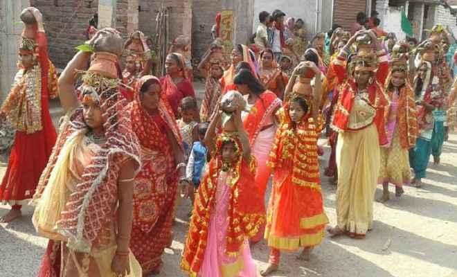 चोरका-पंडरिया में कलशयात्रा के साथ प्राण-प्रतिष्ठा शिव शक्ति यज्ञ आरंभ