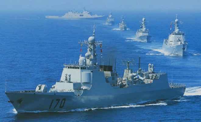 चीन की नई चाल, हिंद महासागर में भेजे 5 युद्धपोत
