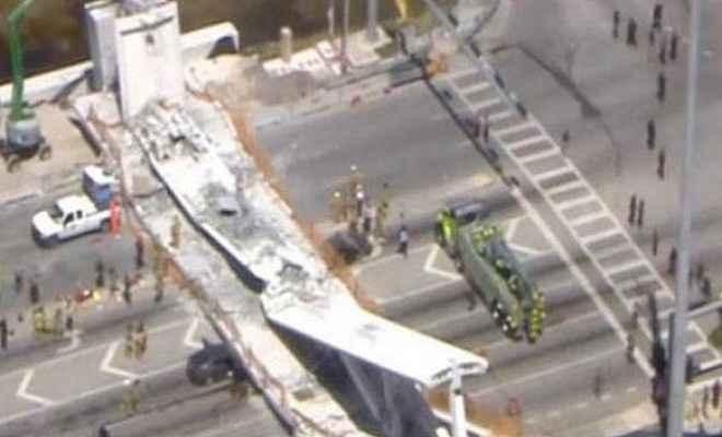 फ्लोरिडा में पुल गिरा, 10 की मौत