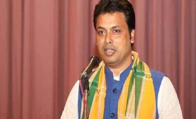 मुख्यमंत्री विप्लब देब प्रधानमंत्री  मोदी से मुलाकात करके त्रिपुरा के लिए विशेष वित्तीय पैकेज की करेंगे मांग