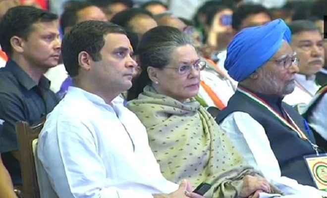 कांग्रेस महाधिवेशन: राहुल के साथ लगे ''प्रियंका गांधी जिंदाबाद'' के नारे