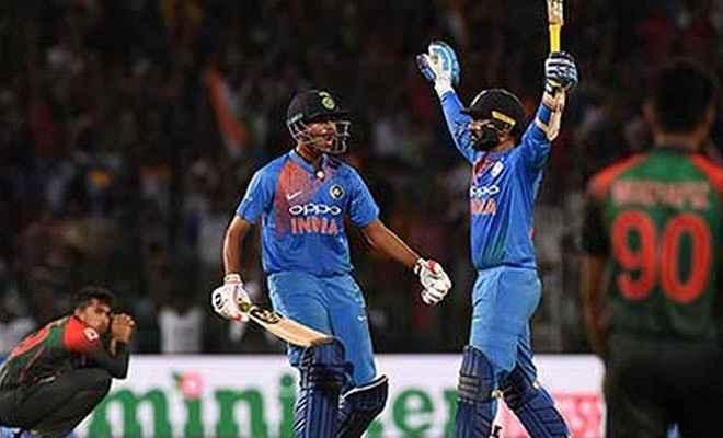 रोहित-कार्तिक की तूफान में उड़ा बांग्लादेश, भारत ने जीती टी-20 त्रिकोणीय सीरीज